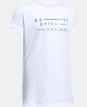 Girls' UA Be Extraordinary Short Sleeve T-Shirt   $19.99