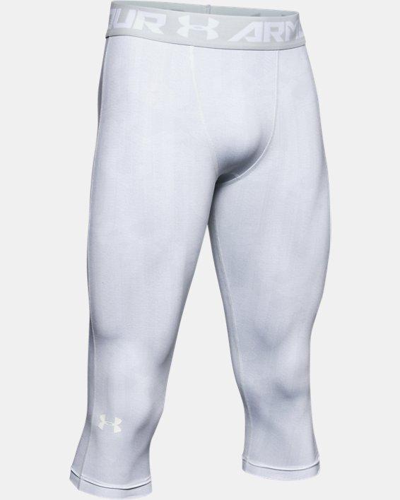 Men's HeatGear® Armour ¾ Leggings, Gray, pdpMainDesktop image number 4