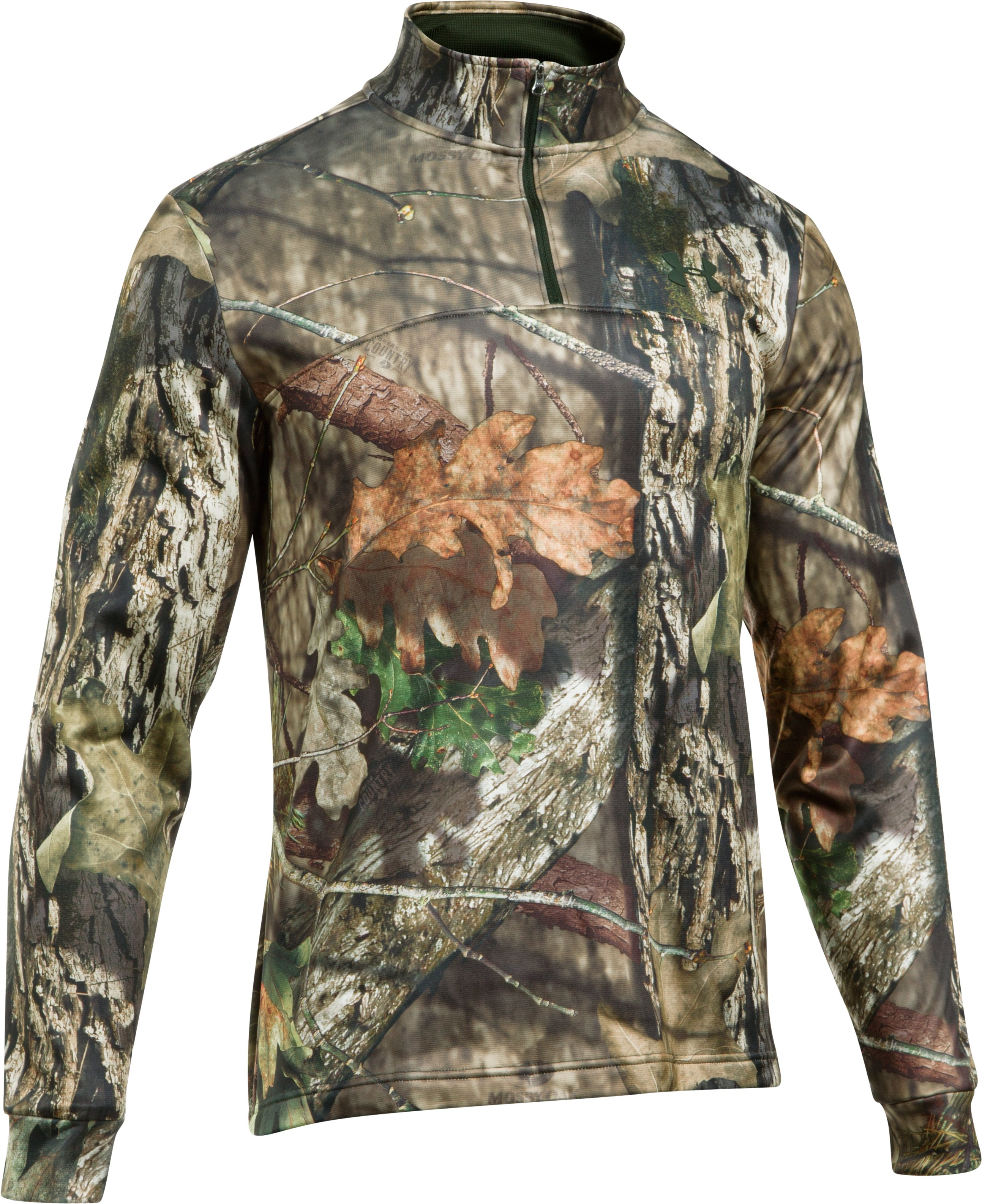 Men's UA Storm Camo ¼ Zip, MOSSY OAK BREAK UP COUNTRY