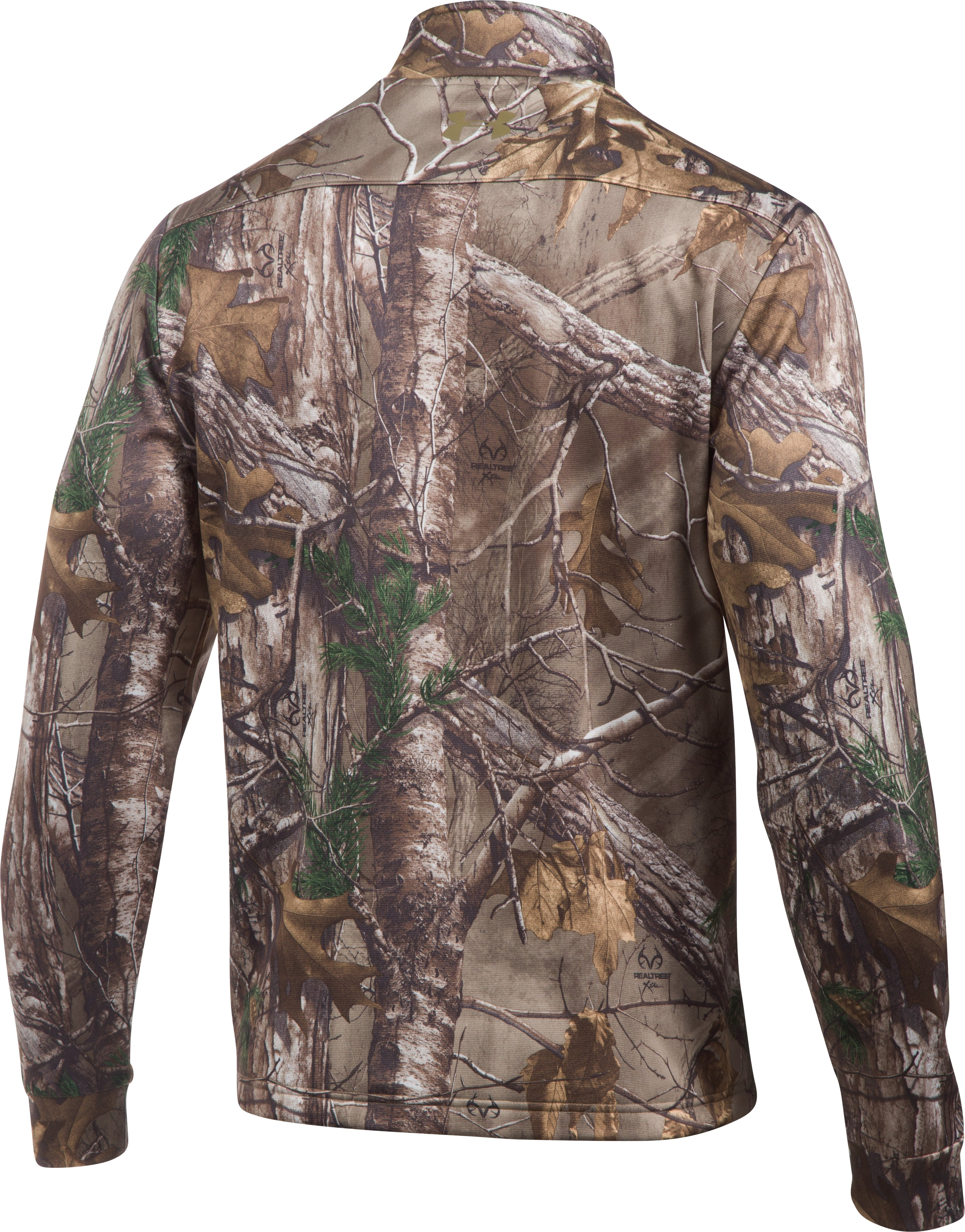 Men's UA Storm Camo ¼ Zip, REALTREE AP-XTRA