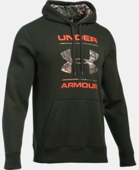 New Arrival  Men's UA Rival Fleece Camo Logo Hoodie  1 Color $64.99