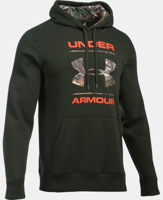 Men's UA Rival Fleece Camo Logo Hoodie  1 Color $64.99