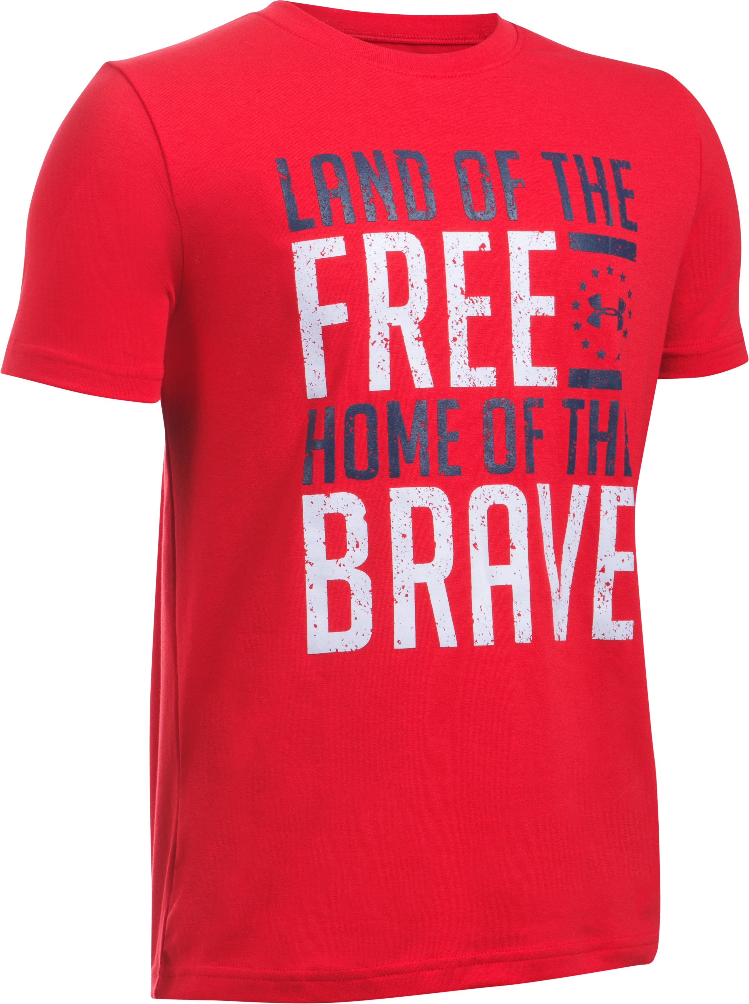 Boys' UA Freedom Land Of The Free T-Shirt, Red, undefined