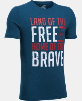 New Arrival Boys' UA Freedom Land Of The Free T-Shirt  1 Color $19.99