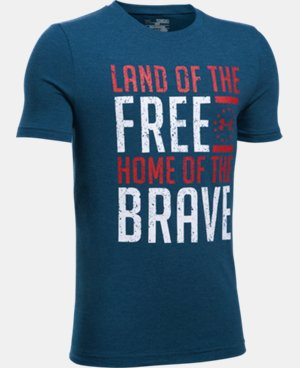 New Arrival Boys' UA Freedom Land Of The Free T-Shirt   $19.99