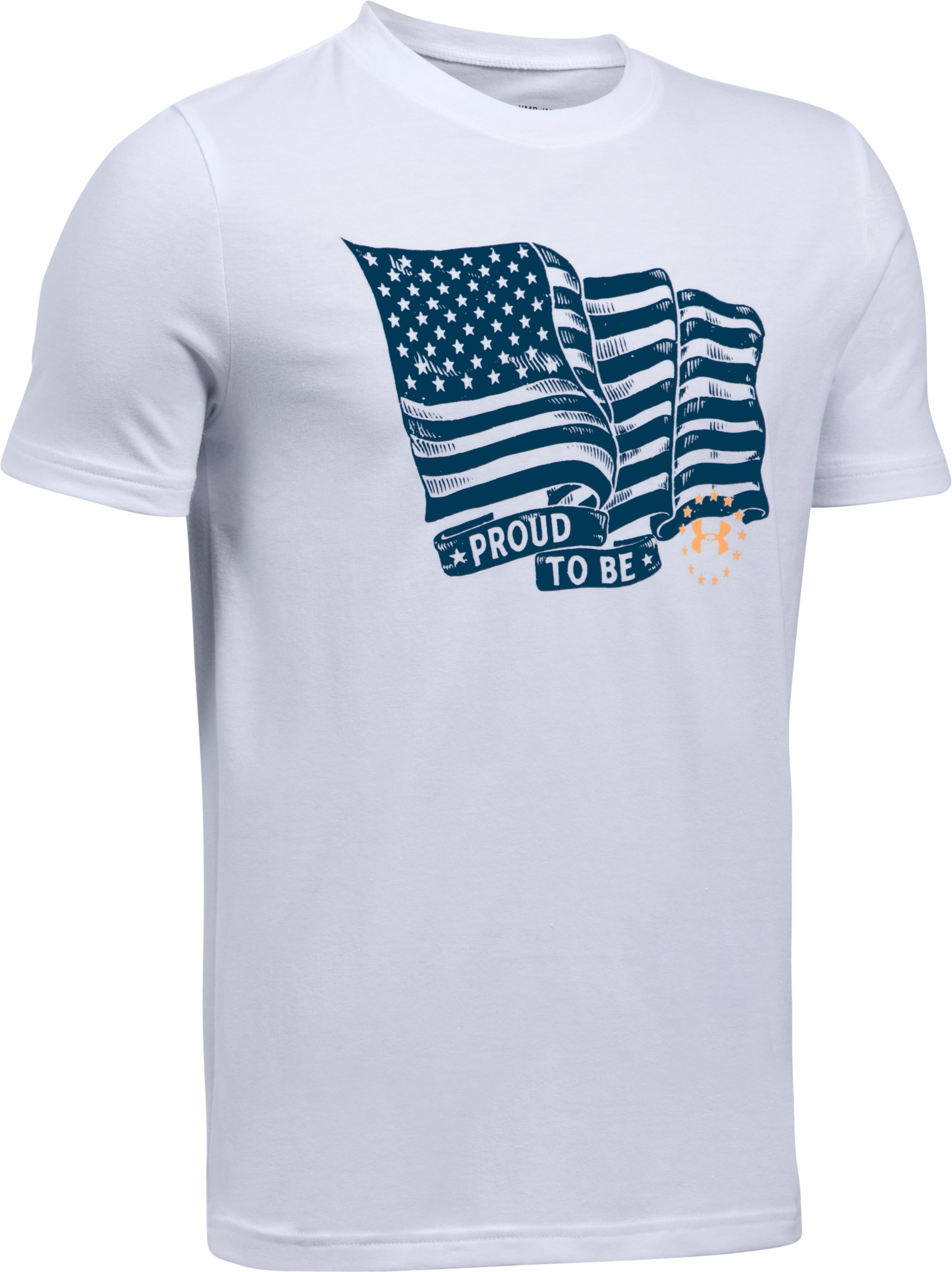 Boys' UA Freedom Proud To Be T-Shirt, White