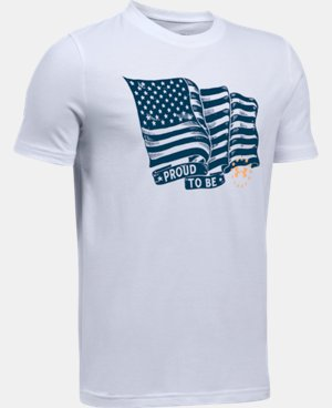 New Arrival Boys' UA Freedom Proud To Be T-Shirt  1 Color $19.99