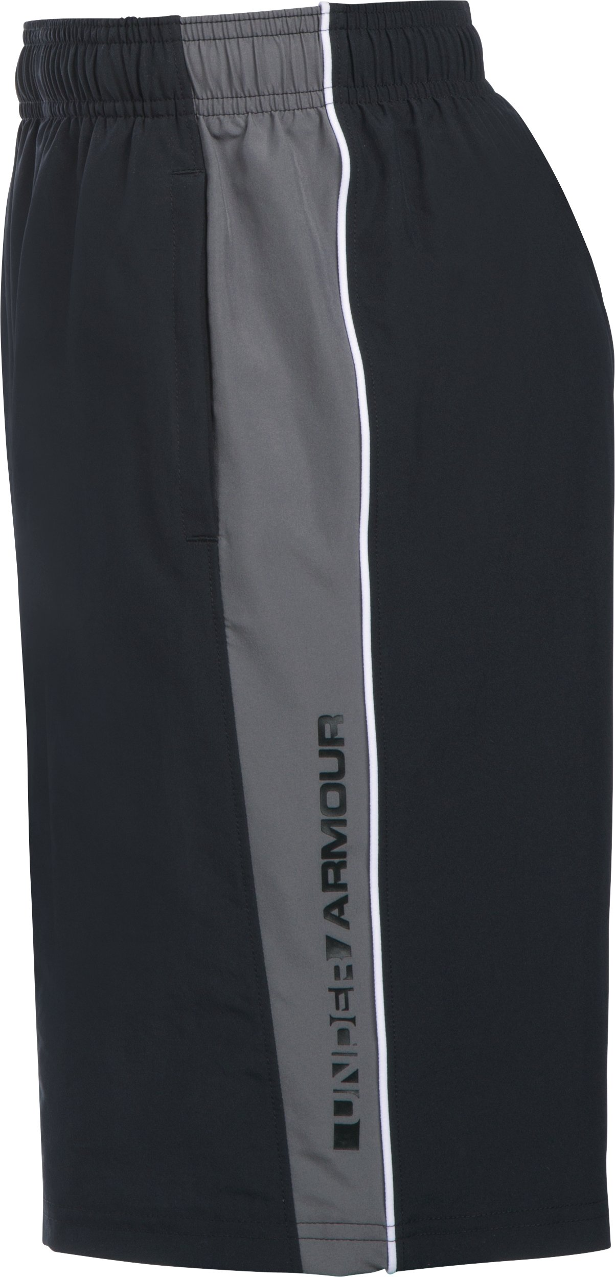 Boys' UA Impulse Woven Shorts, Black , undefined