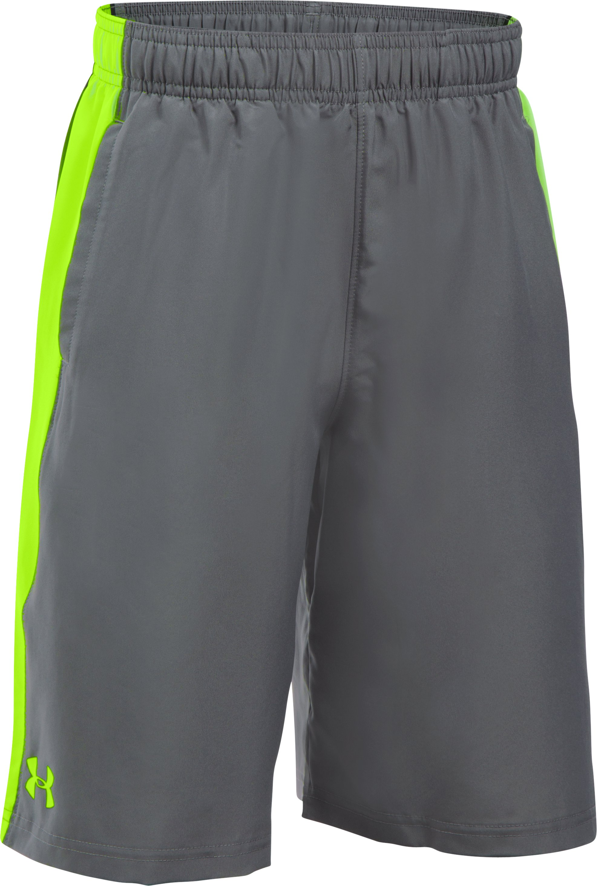 Boys' UA Impulse Woven Shorts, Graphite, undefined