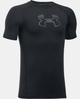 Boys' HeatGear® Armour Block Short Sleeve  4 Colors $12.99