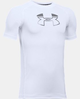 Boys' HeatGear® Armour Block Short Sleeve  1 Color $17.99