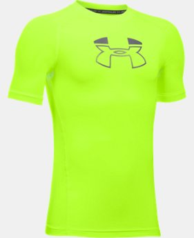 Boys' HeatGear® Armour Block Short Sleeve  2 Colors $12.99