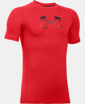 Boys' HeatGear® Armour Block Short Sleeve  1 Color $12.99 to $17.99