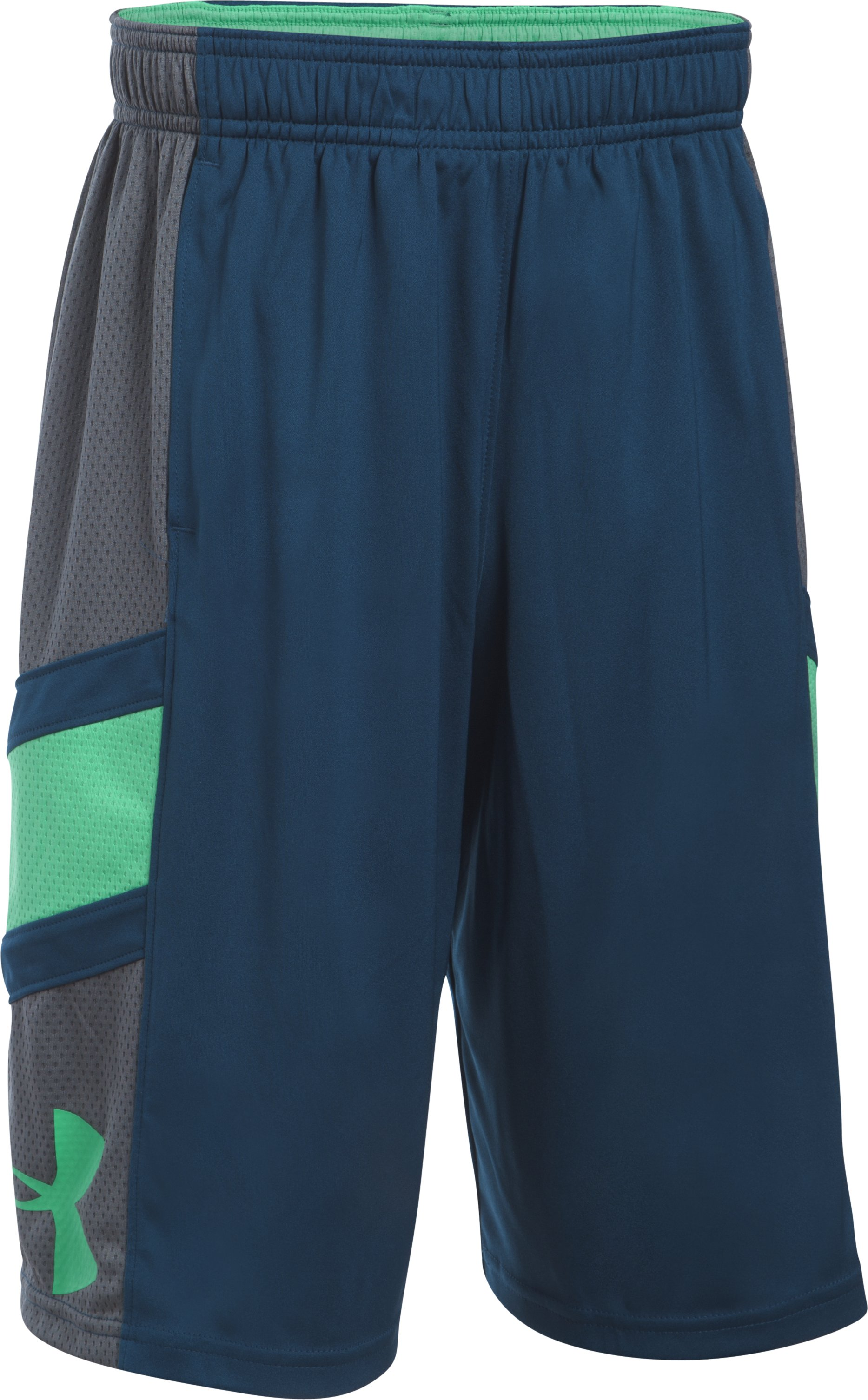 Boys' UA Step Back Shorts, BLACKOUT NAVY