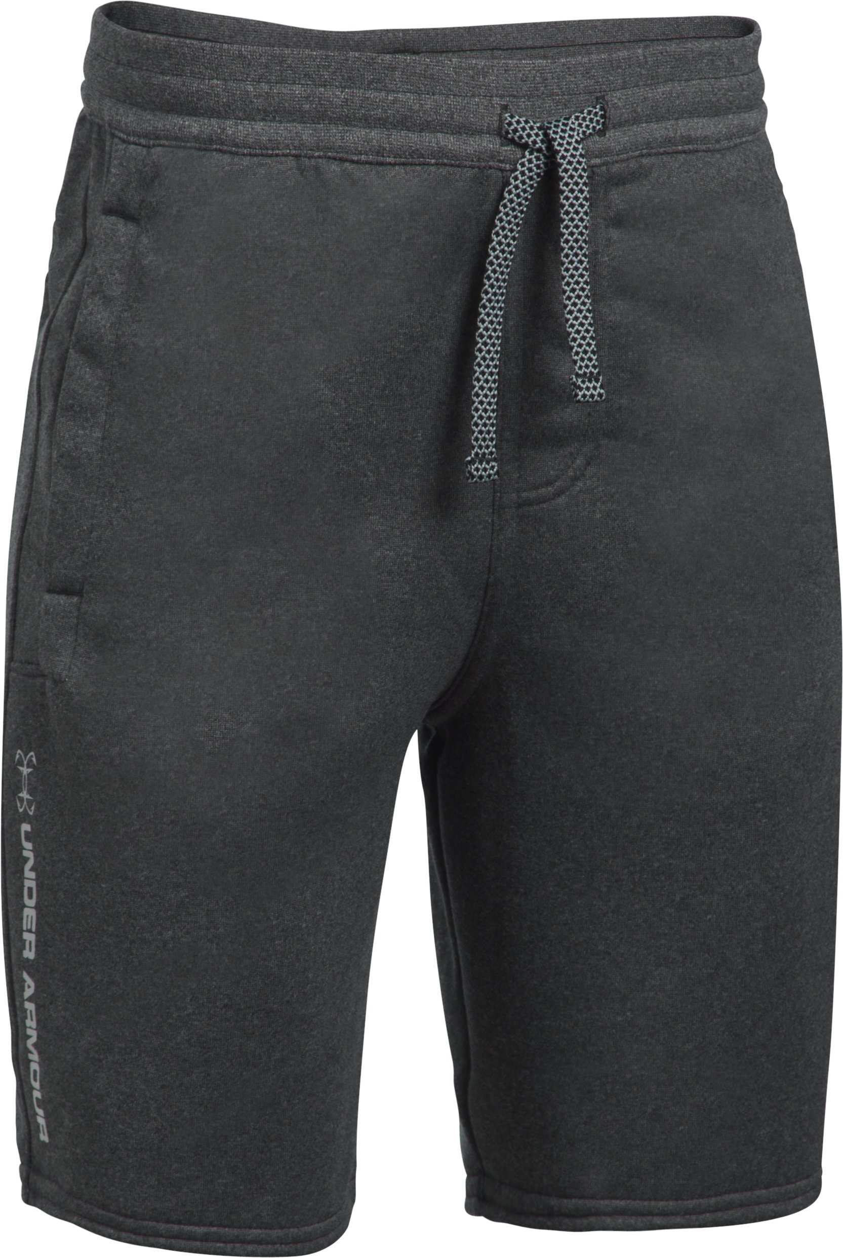 Boys' UA Shoreline Terry Shorts, Asphalt Heather, zoomed image