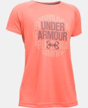 Girls' UA Tech™ Short Sleeve  1 Color $19.99