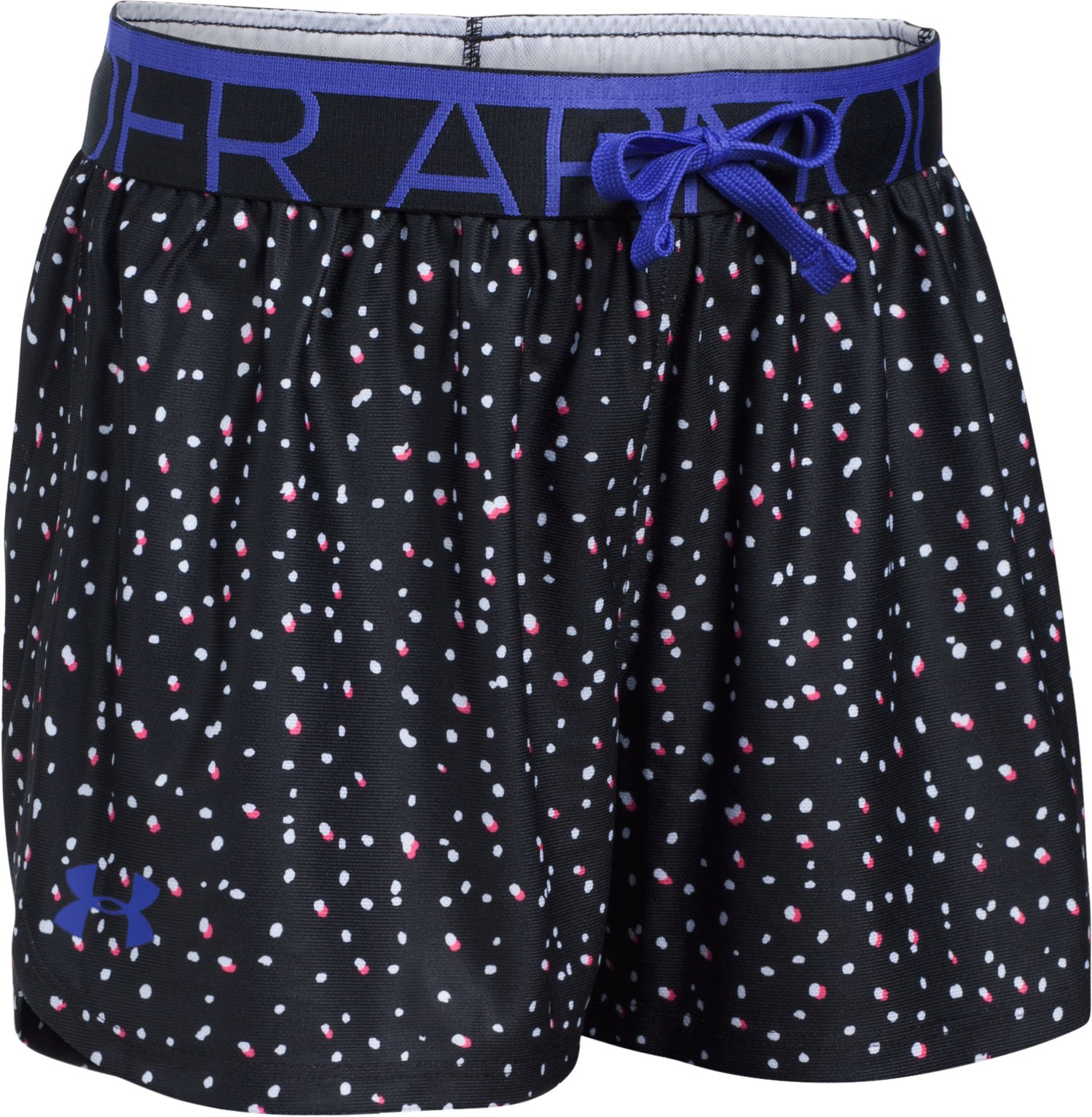 Girls' UA Play Up Printed Shorts, Black