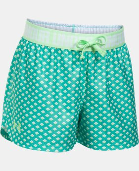 Girls' UA Play Up Printed Shorts  1 Color $16.99
