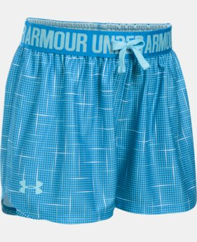 Girls' UA Play Up Printed Shorts  2 Colors $16.99