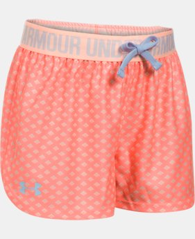 Girls' UA Play Up Printed Shorts  1 Color $15.59