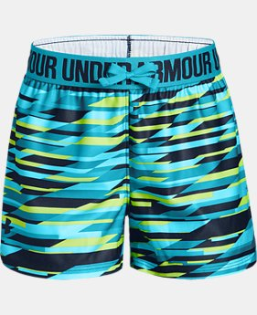 Girls' UA Play Up Printed Shorts   $18.74
