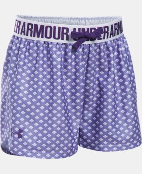 New Arrival  Girls' UA Play Up Printed Shorts  2 Colors $25.99