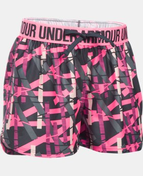 Girls' UA Play Up Printed Shorts  2 Colors $16.09 to $16.99