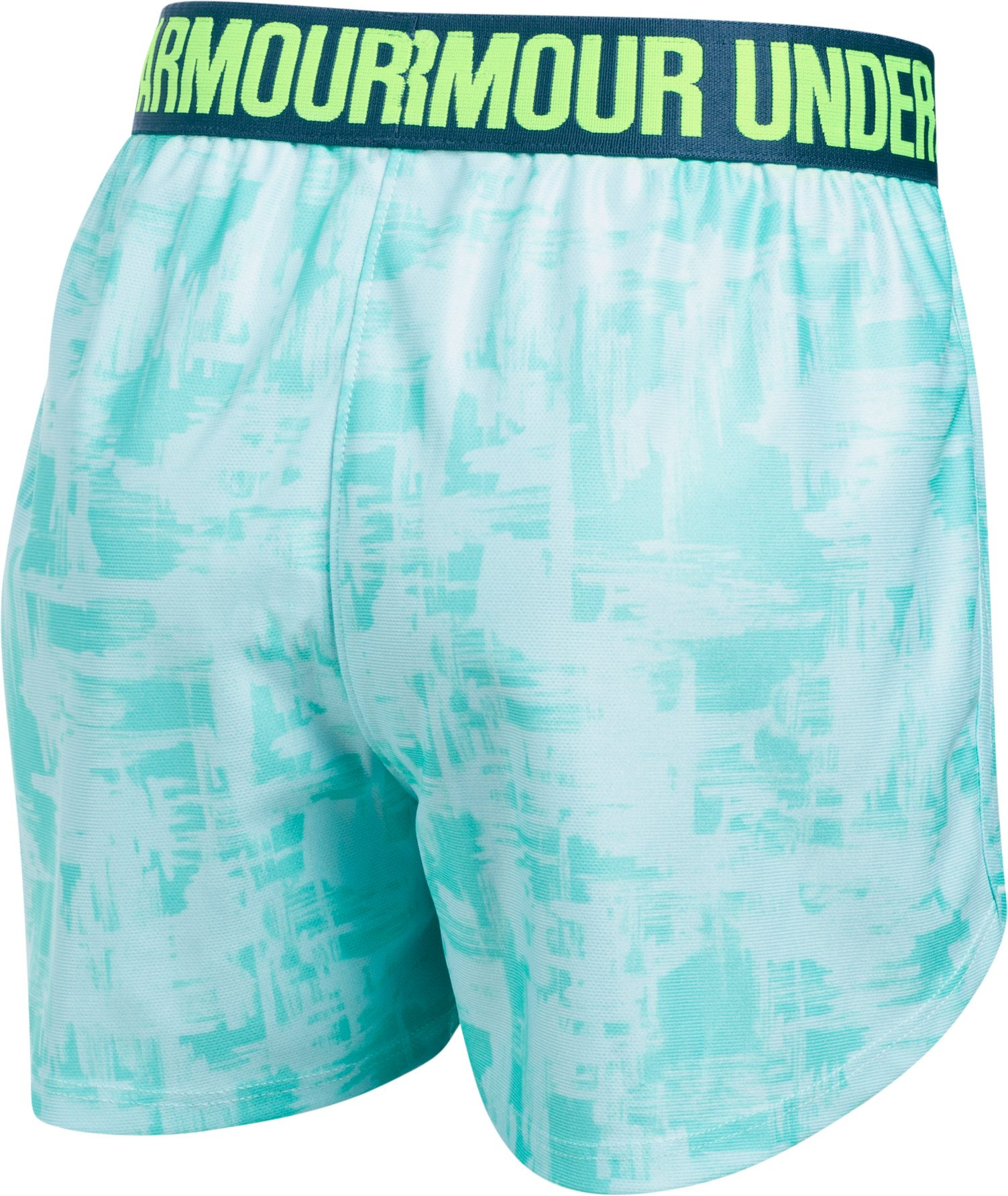 Girls' UA Play Up Printed Shorts, BLUE INFINITY,
