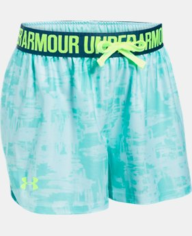 Girls' UA Play Up Printed Shorts  8 Colors $15.99 to $16.99