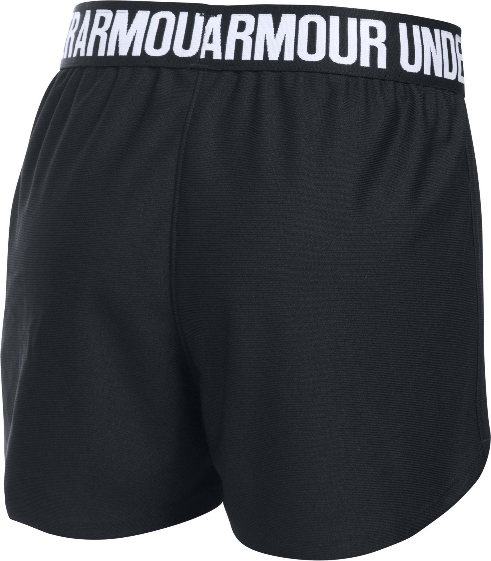 Girls' UA Play Up Shorts, Black , undefined
