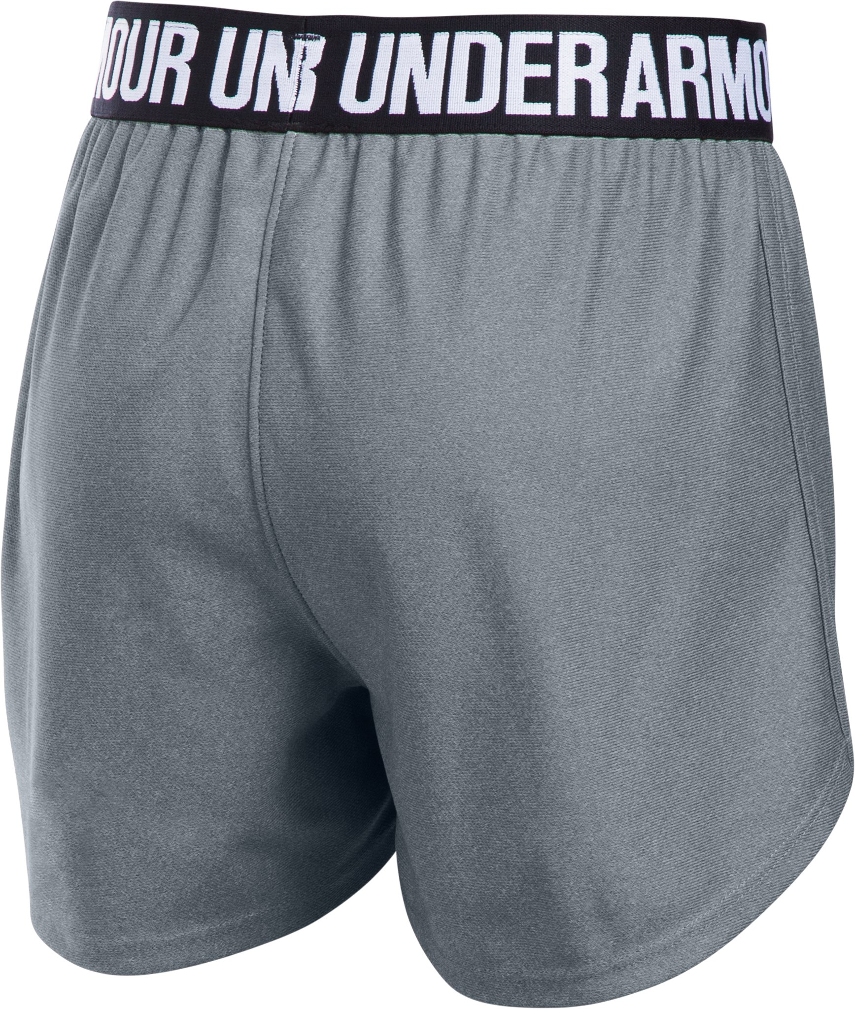 Girls' UA Play Up Shorts, Steel,