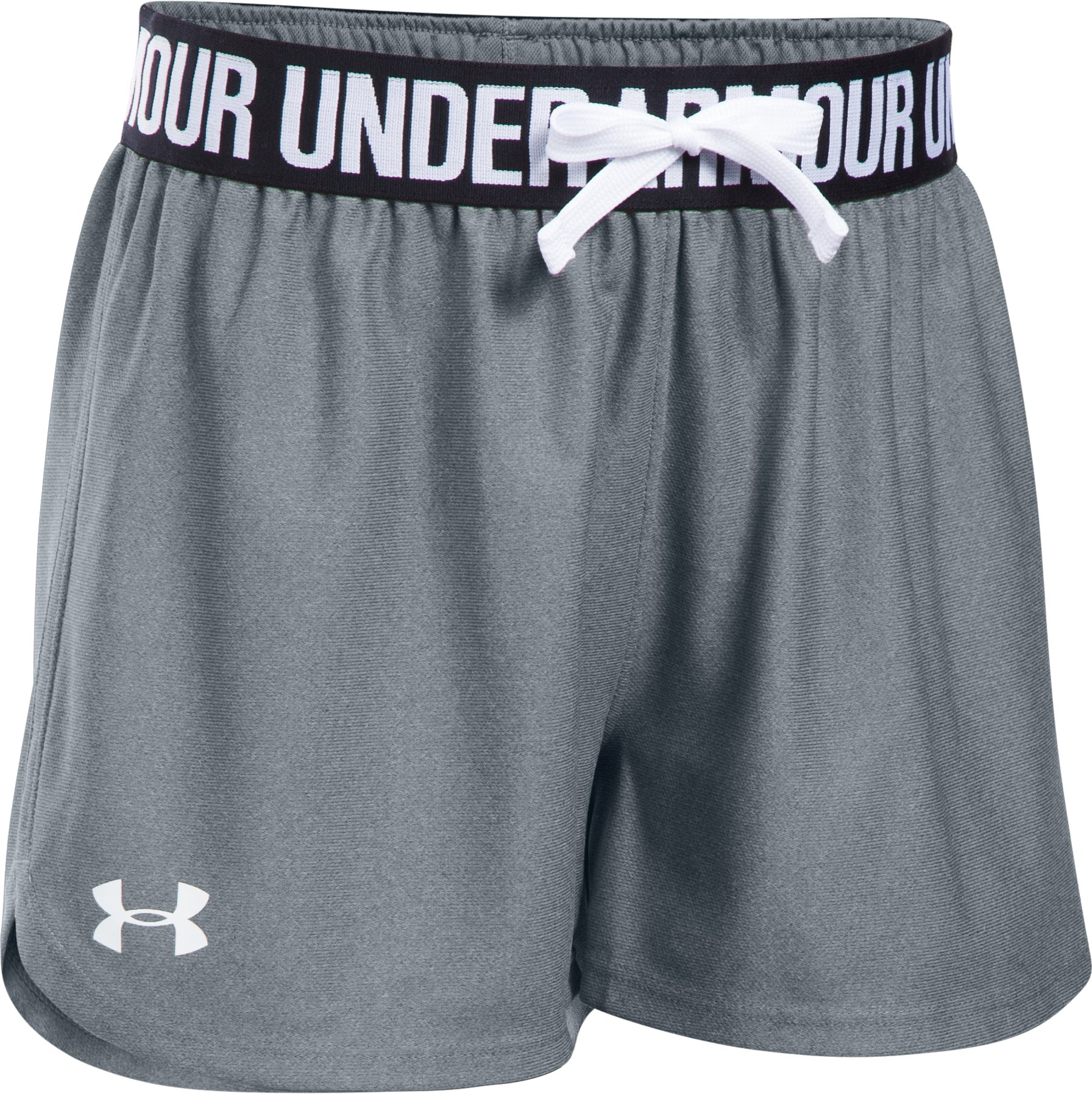 Girls' UA Play Up Shorts, Steel