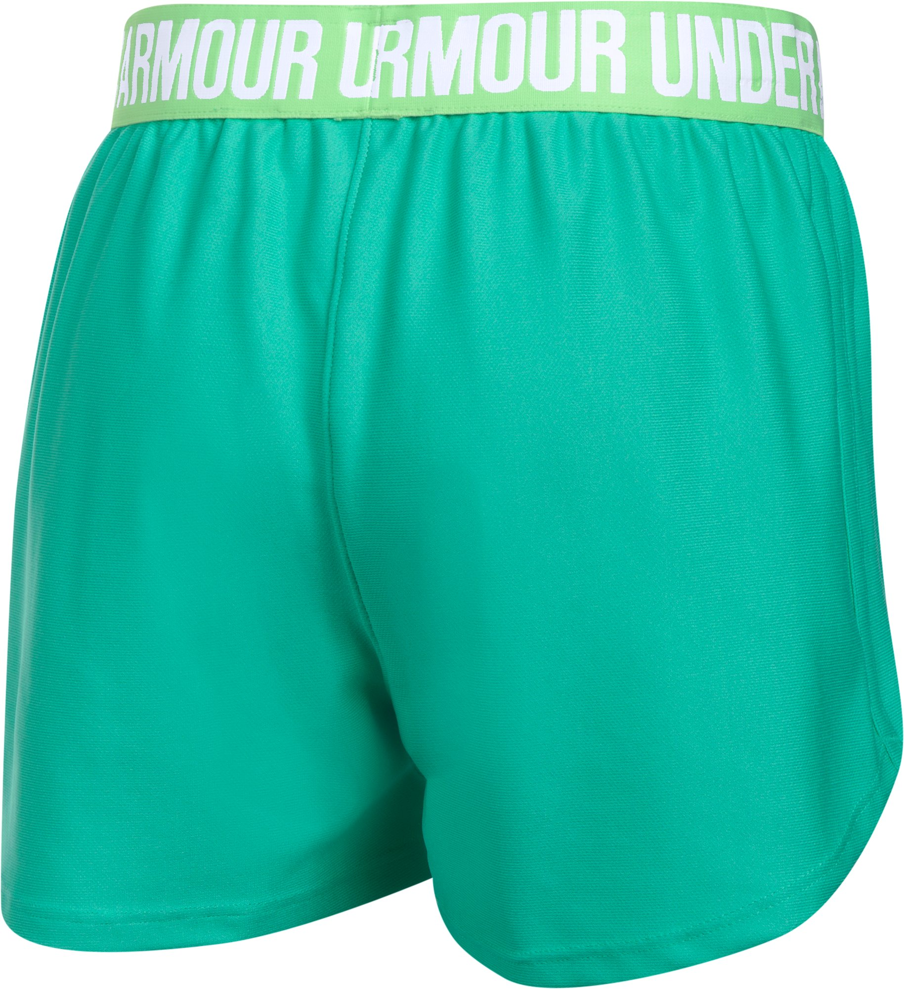 Girls' UA Play Up Shorts, ABSINTHE GREEN, undefined