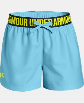 Best Seller Girls' UA Play Up Shorts FREE U.S. SHIPPING 1  Color Available $19.99