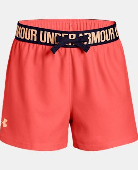 Best Seller Girls' UA Play Up Shorts   $14.99