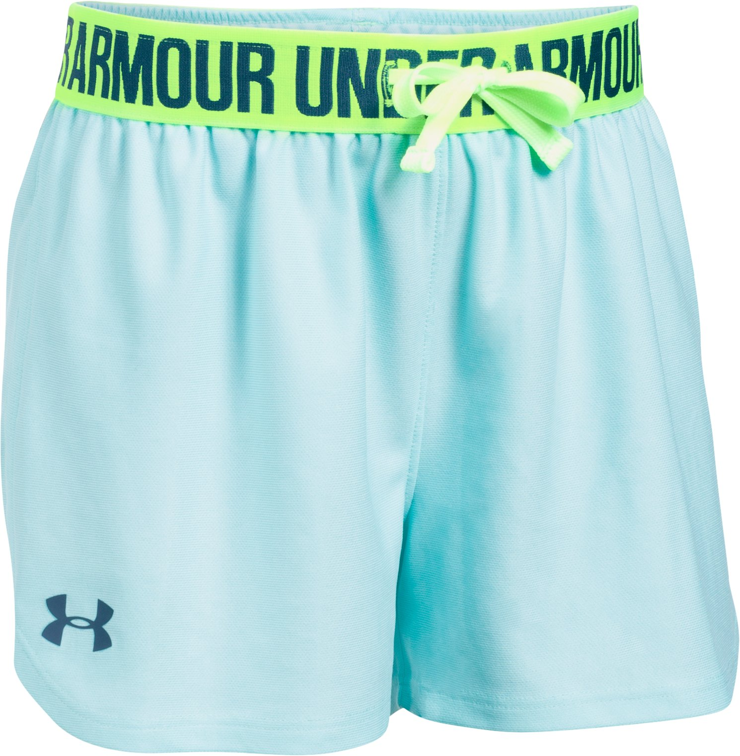Girls' UA Play Up Shorts, BLUE INFINITY