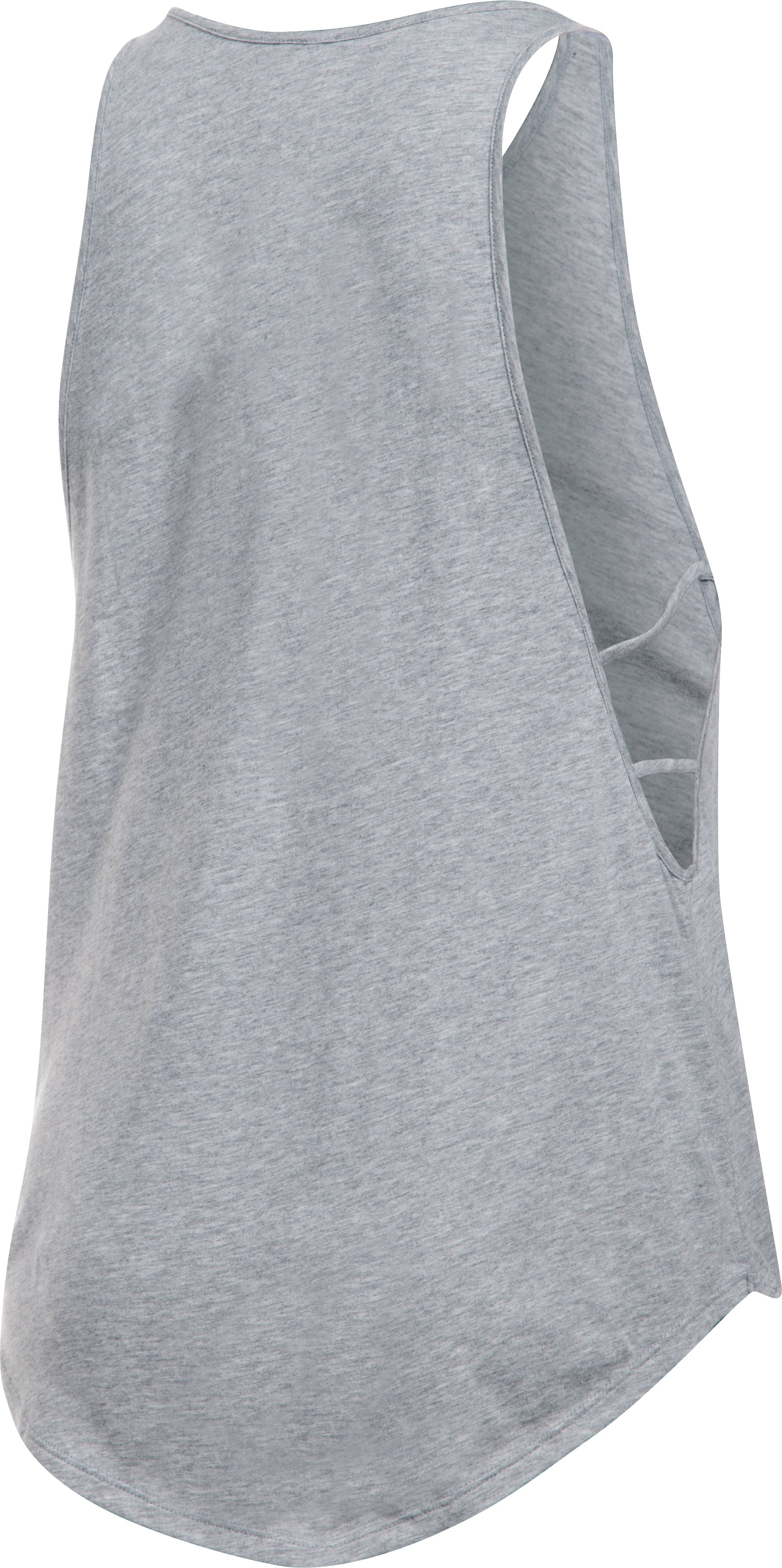 Women's UA Fit Girl Strappy Tank, True Gray Heather, undefined