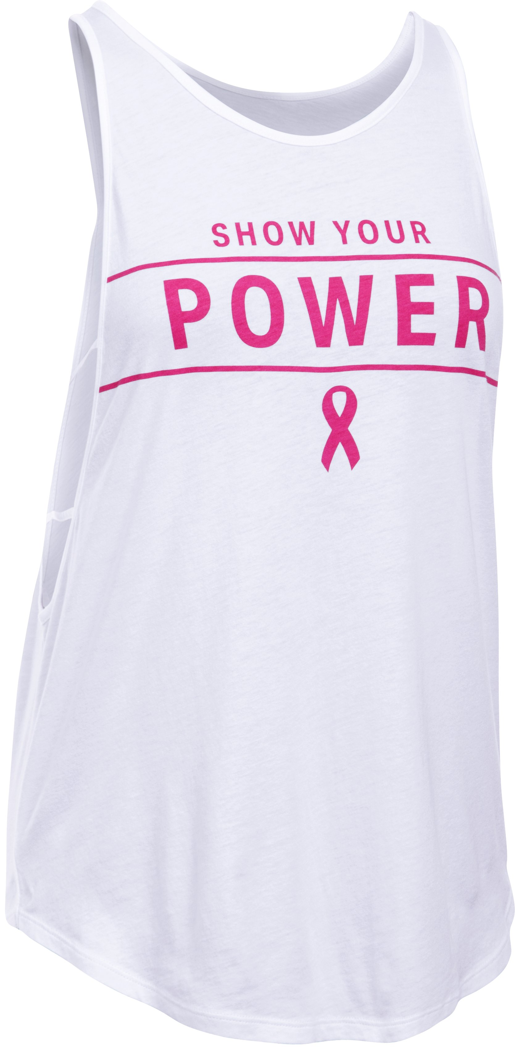 Women's UA Power In Pink® Your Power Strappy Tank, White,
