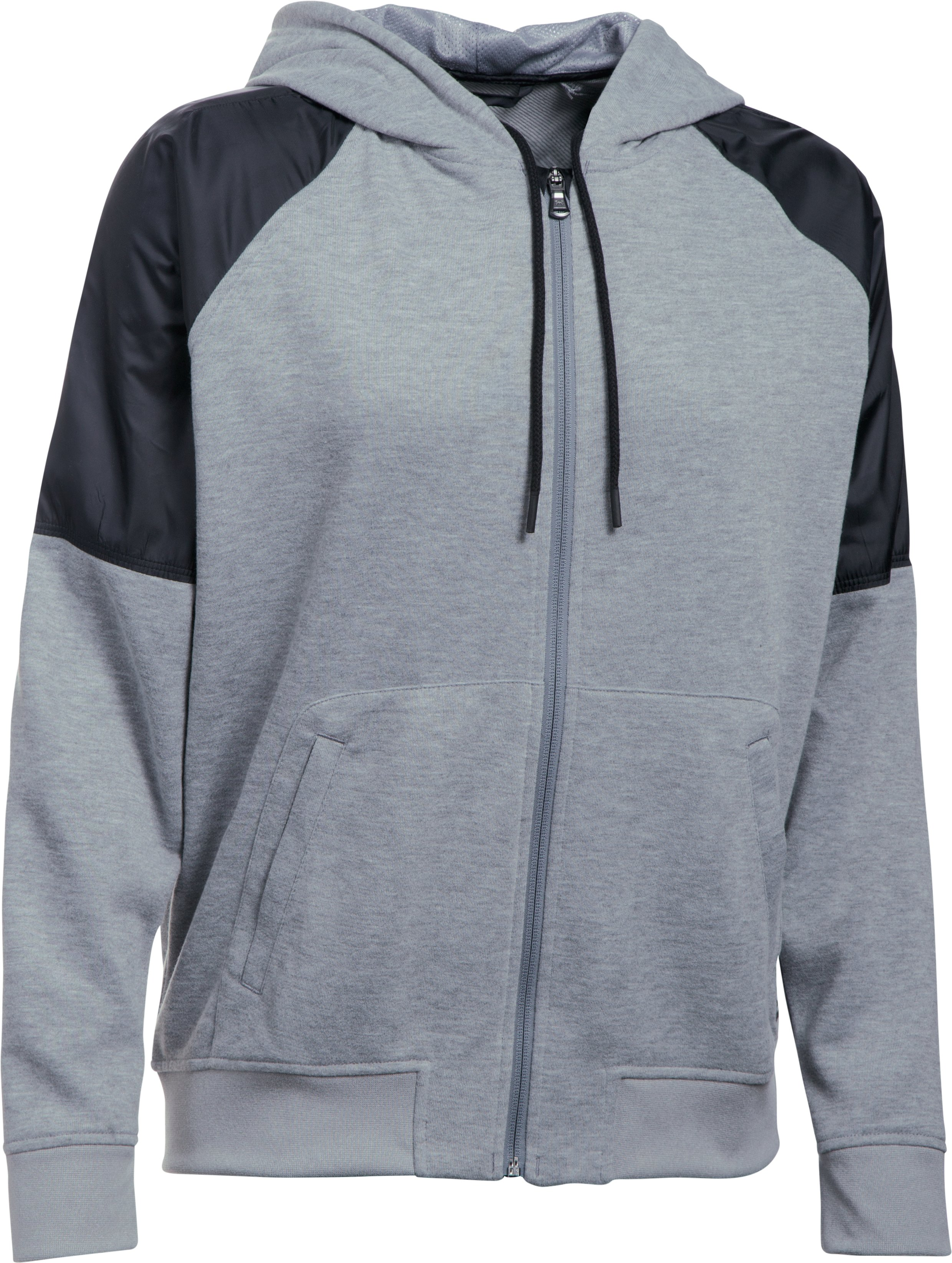 Women's UA Favorite French Terry Warm Up Hoodie, True Gray Heather, undefined