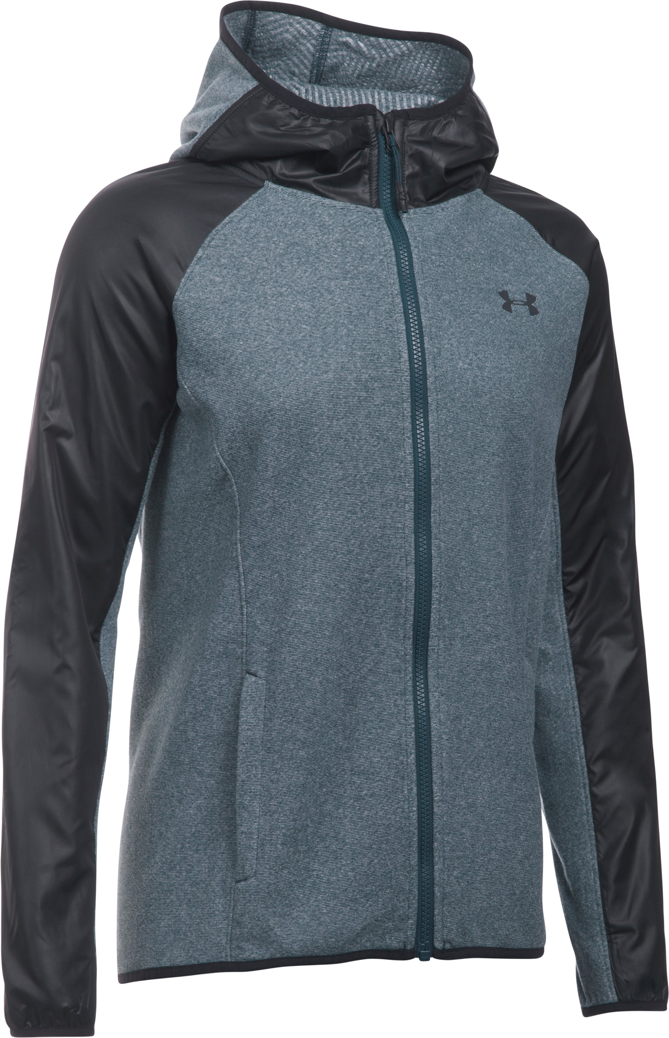 Women's UA ColdGear® Infrared Survivor Fleece Full Zip, NOVA TEAL