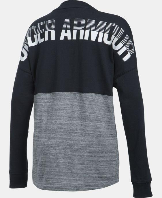 New Arrival  Girls' UA Varsity Crew Long Sleeve  1 Color $39.99