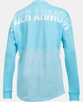 Girls' UA Varsity Crew Long Sleeve  1 Color $24.99