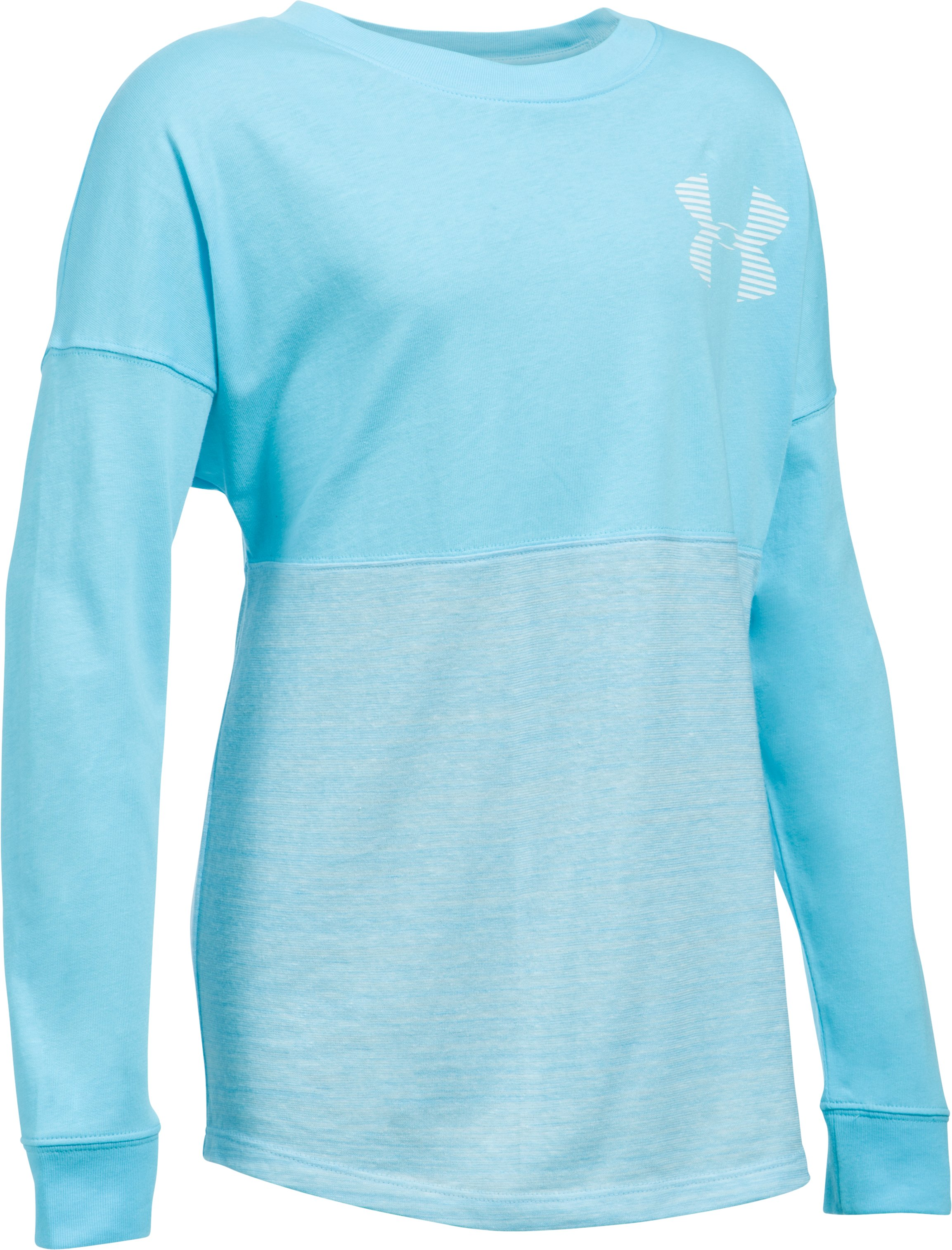Girls' UA Varsity Crew Long Sleeve, Venetian Blue, undefined