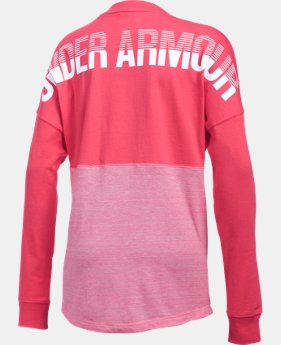 Girls' UA Varsity Crew Long Sleeve  1 Color $24.99 to $26.99