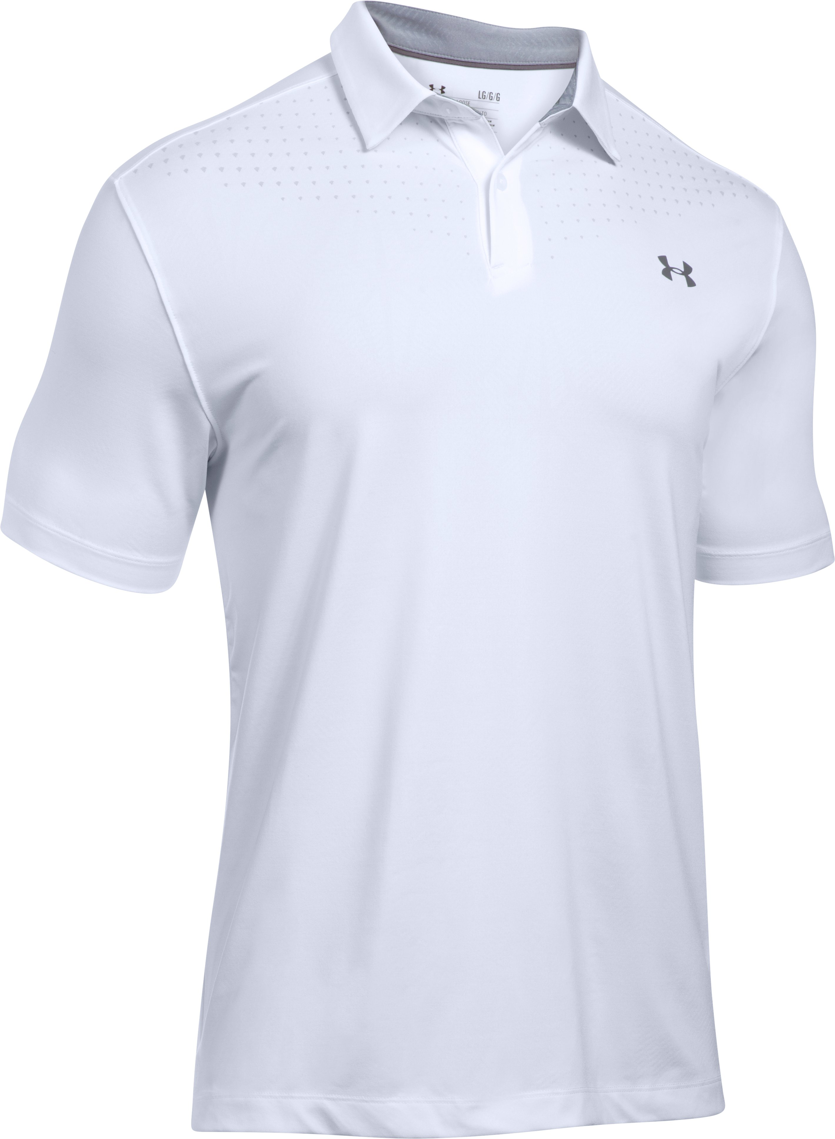 Men's UA CoolSwitch Ice Pick Polo, White, undefined