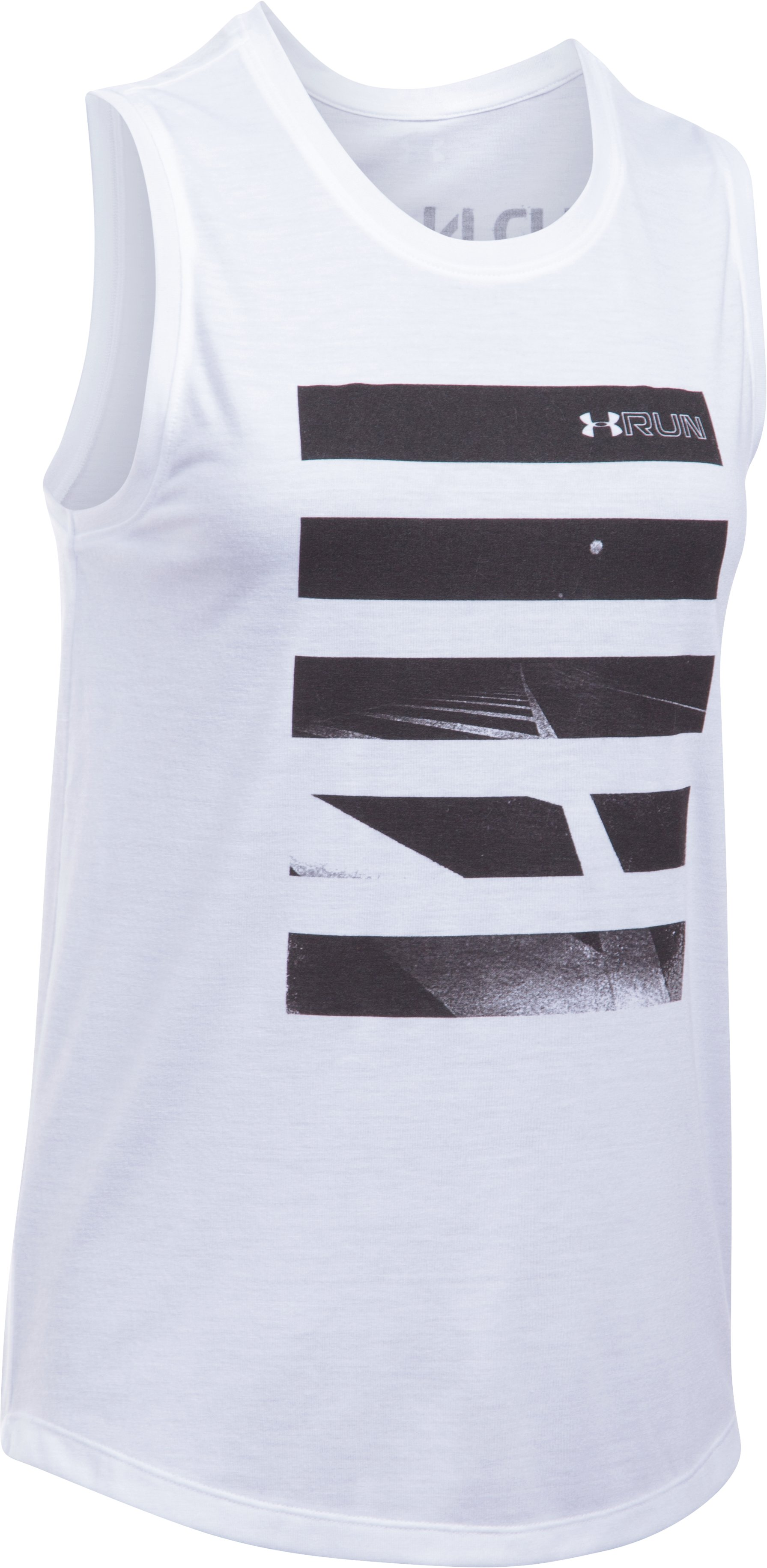 Women's UA Midnight Run Muscle Tank, White