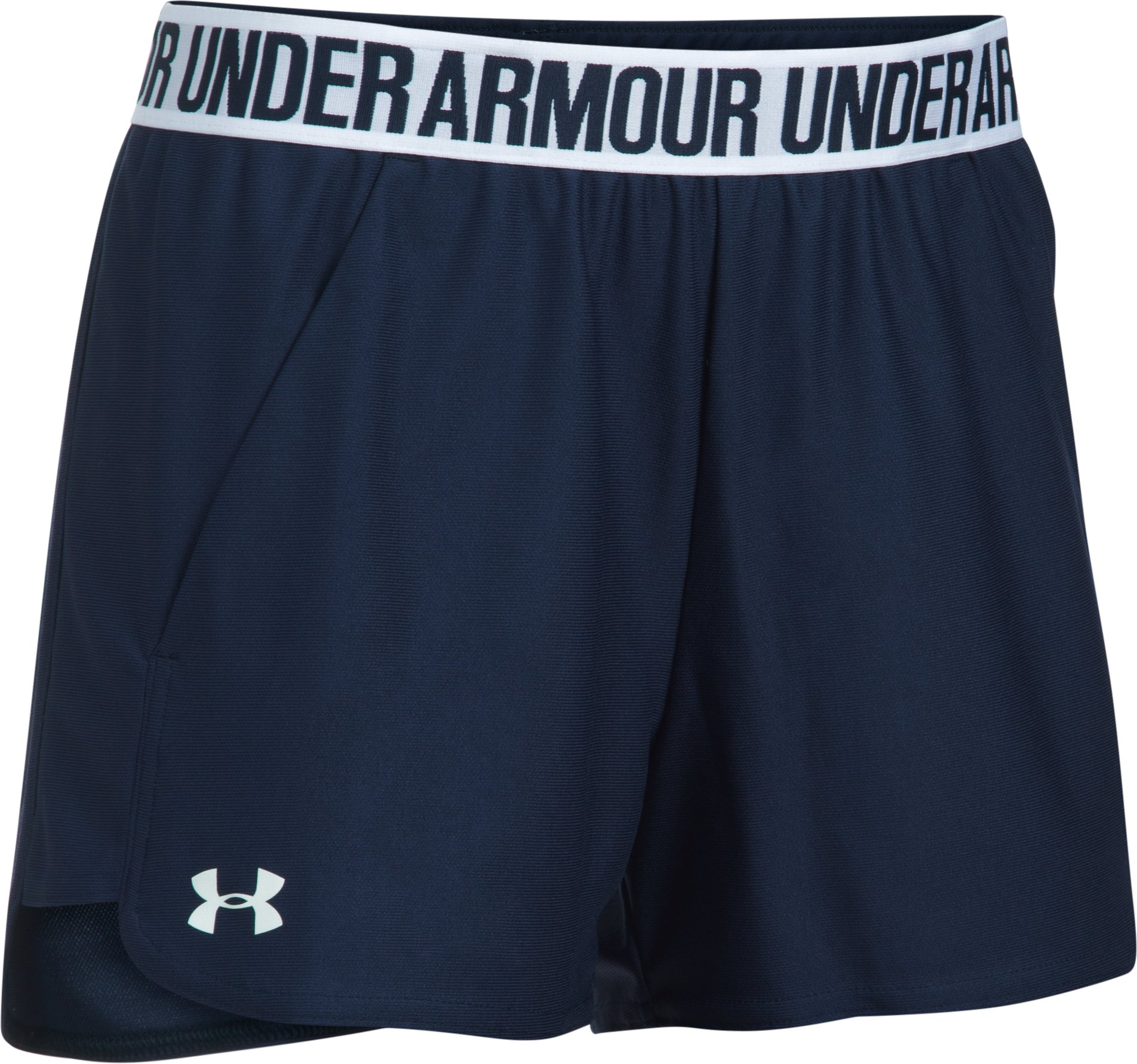 Women's UA Play Up 2.0 Shorts, Midnight Navy, undefined