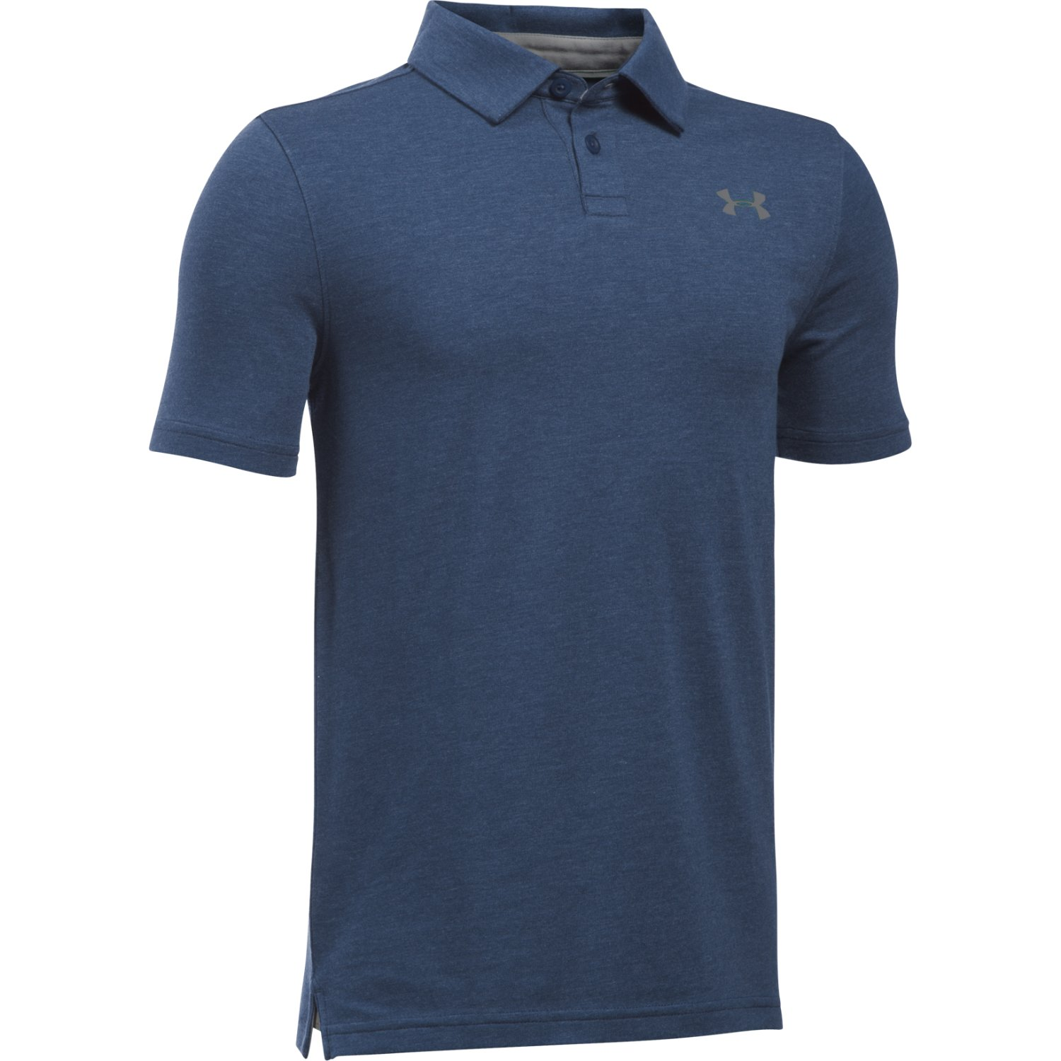 Boys' Charged Cotton® Heather Polo, BLACKOUT NAVY