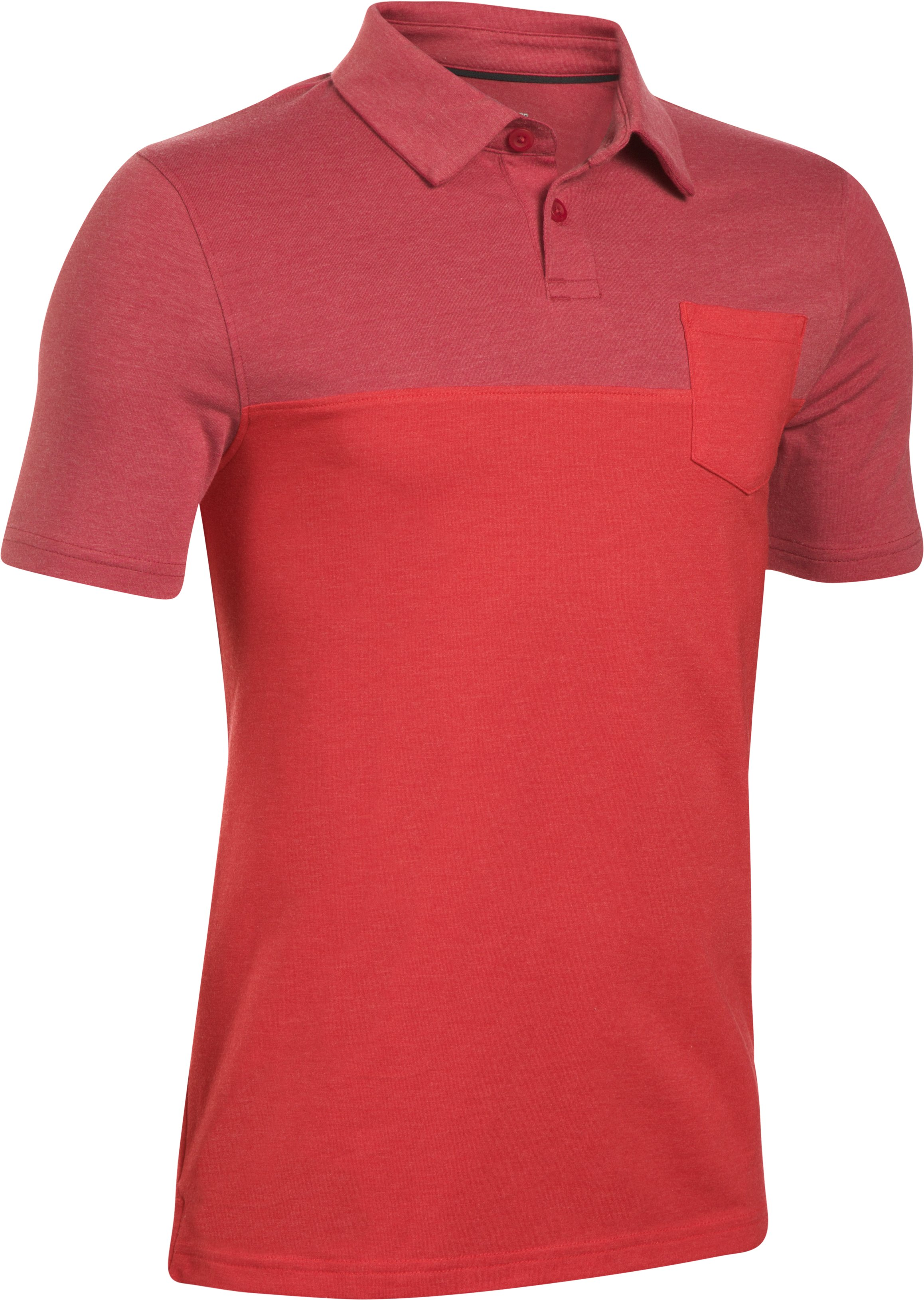 Boys' Charged Cotton® Blocked Polo, Red,