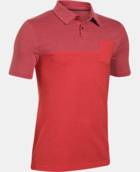 Boys' Charged Cotton® Blocked Polo  1  Color Available $26.99